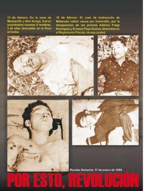 Miles de cubanos fueron asesinados por la dictadura de Batista.
