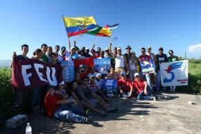 Jóvenes de la Universidad de Matanzas durante una de sus actividades por la liberación de Los Cinco