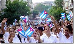 Marcha de jóvenes estudiantes por el Fusilamiento de los ocho estudiantes de medicina _Foto Calixto.N. Llanes Vila 1