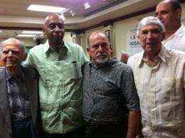 """El falso """"premio Sájarov 2010"""" de la UE junto al terrorista Posada Carriles en Miami, septiembre 2013"""