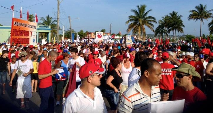 trabajadores mayo fiesta cubanos