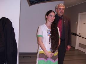 Yoani Sánchez y Gordiano Lupi en La Stampa / Foto tomada del blog de Gordiano Lupi