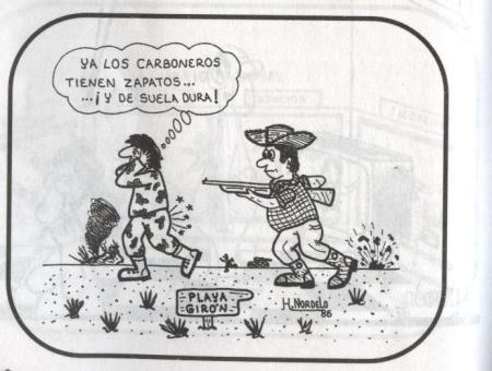 Caricatura del Héroe de la República de Cuba Gerardo Hernández Nordelo